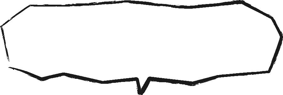 [毛筆・墨絵]カクカクした手書き風吹き出し(ふきだし)イラスト<大>