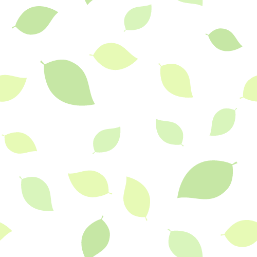 新緑・若葉のグリーン背景イラスト(白)