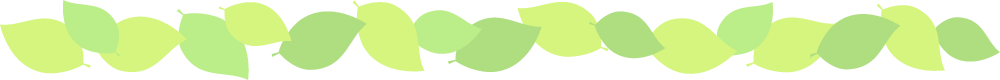 新緑・若葉のグリーン罫線ライン飾りイラスト<W1000×H80px>