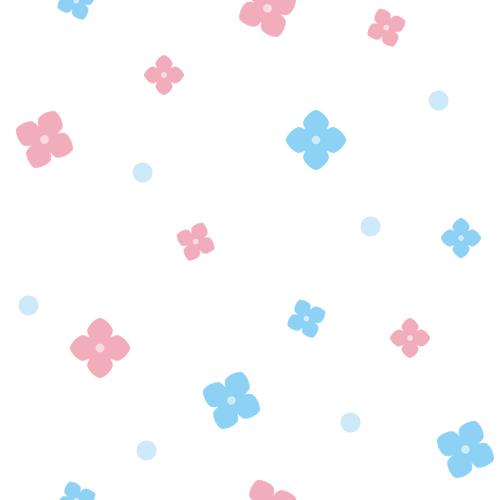 紫陽花(アジサイ)の背景イラスト<白>