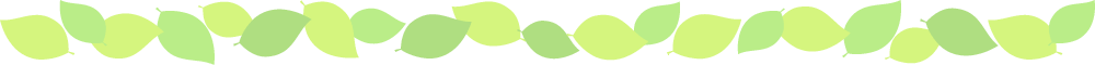 新緑・若葉のグリーン罫線ライン飾りイラスト<W1000×H60px>