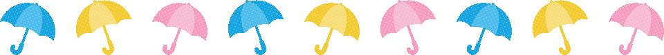 傘のライン飾り罫線イラスト