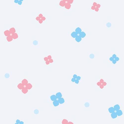 紫陽花(アジサイ)の背景イラスト<水色>