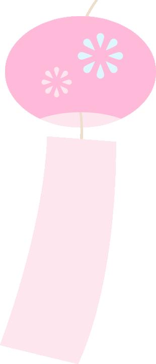 風鈴のイラスト<ピンク>