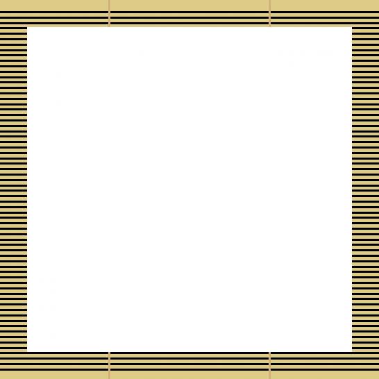 簾(すだれ)のフレーム飾り枠イラスト<正方形>