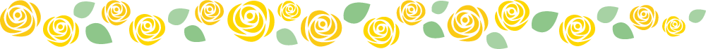 [父の日]黄色いバラのライン飾り罫線イラスト