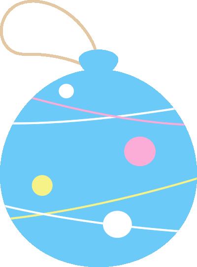 水風船(ヨーヨー)のイラスト<水色>
