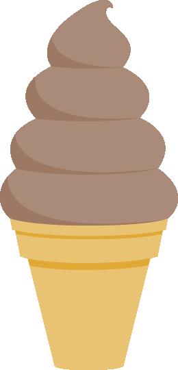 ソフトクリームのイラスト<チョコレート味>