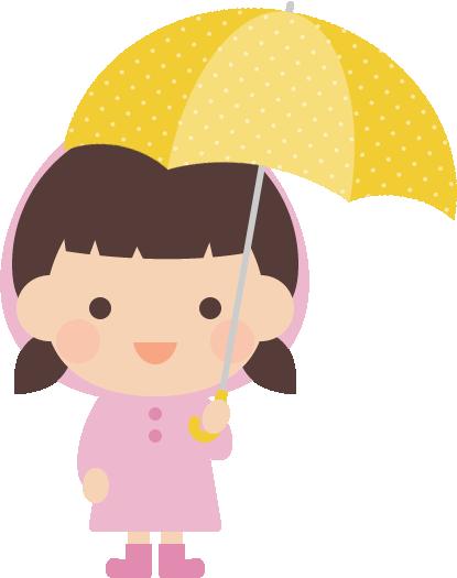 傘をさすかわいい女の子