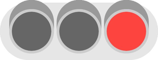 赤信号(信号機)のイラスト