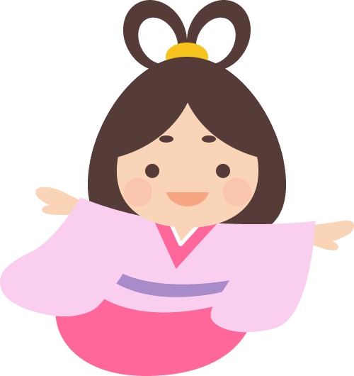 [七夕]かわいい織姫のイラスト