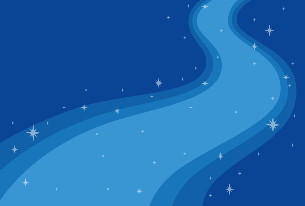 [七夕]天の川の背景フレームイラスト<青色>