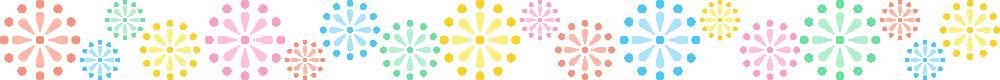 打ち上げ花火のライン飾り罫線イラスト<小>
