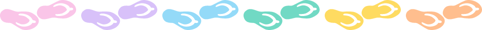 ビーチサンダルのライン飾り罫線イラスト<小>