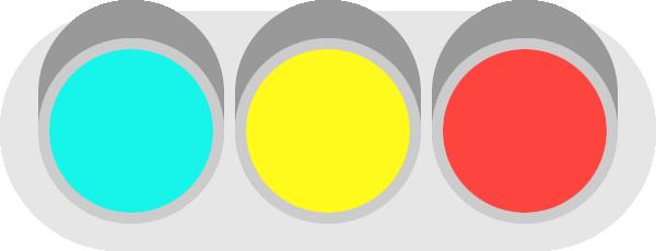 信号機のイラスト<全点灯>