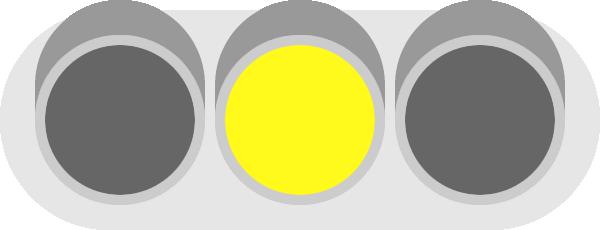 黄色信号(信号機)のイラスト
