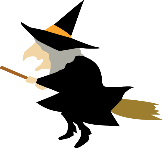 ハロウィンの魔女(魔法使い)のイラスト素材
