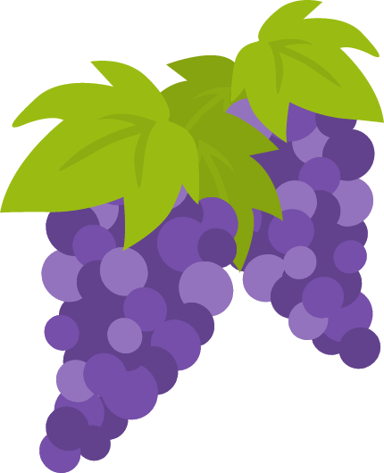 葡萄(ブドウ)のイラスト<2房>