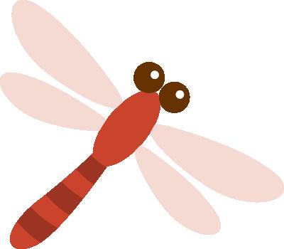 赤トンボのイラスト<赤色>