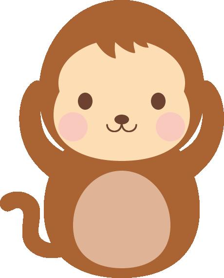 三猿(見ざる言わざる聞かざる)のイラスト<聞か猿>