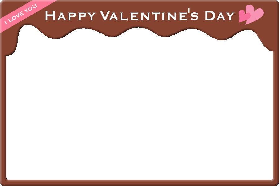 [バレンタインイラスト]チョコレートのフレーム飾り枠<大>