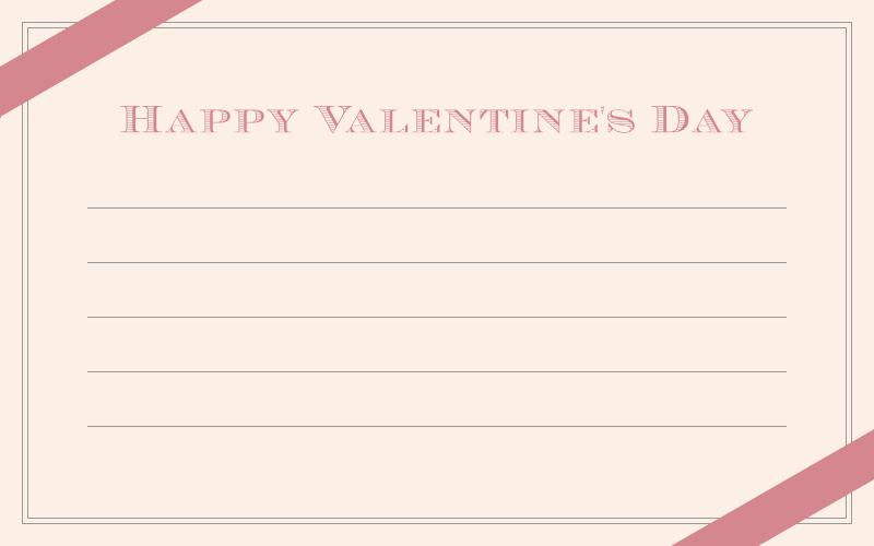バレンタインのメッセージカード<小>