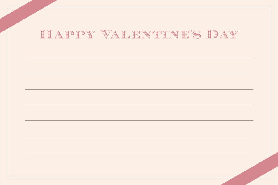 バレンタインのメッセージカード<大>