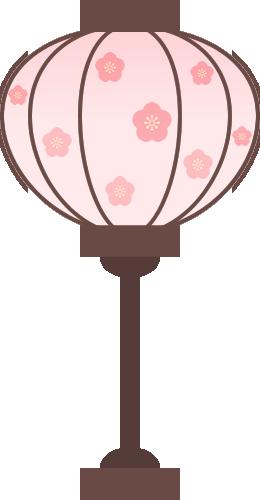 [ひな祭り]ぼんぼりのイラスト<大>