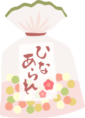 [ひな祭り]雛あられのイラスト