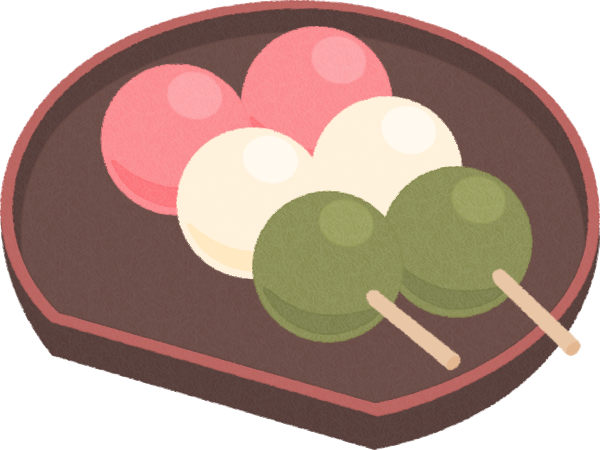 三色団子お花見だんごのイラスト 無料フリーイラスト素材集frame