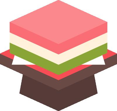 [ひな祭り]菱餅のイラスト