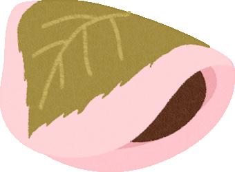 桜餅のイラスト(関東風/長命寺)<1個>
