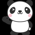OKポーズをするパンダのイラスト