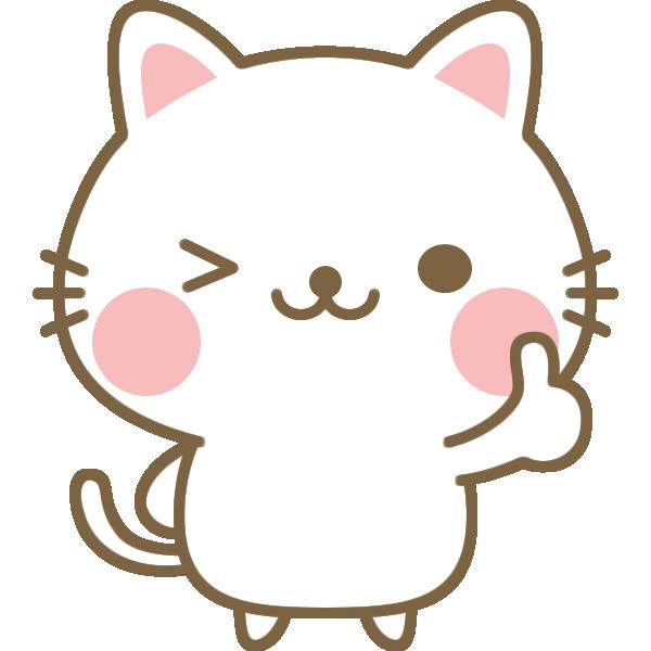 いいね(Good)のポーズをする猫のイラスト