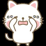 泣いている猫のイラスト