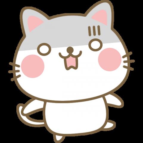 驚く(ショックをうける)猫のイラスト