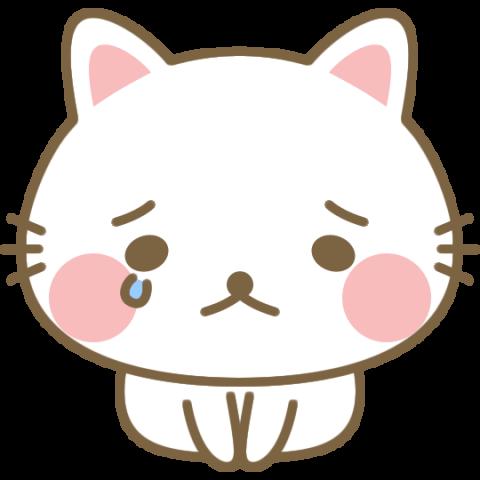 泣きながら土下座をして謝る猫のイラスト