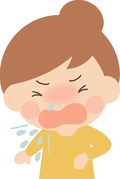 花粉症になってくしゃみをする女性のイラスト