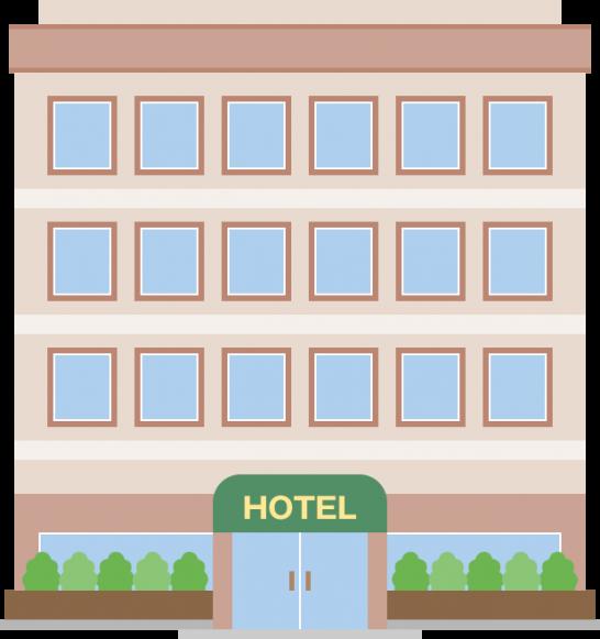 シティホテルのイラスト<6階建>