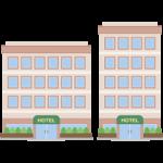 シティホテル(宿泊施設)のイラスト