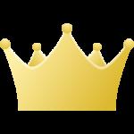 王冠のアイコンイラスト<金・ゴールド>