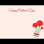 【母の日イラスト】便箋とカーネーションのメッセージフレーム