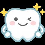 【歯のイラスト】ピカピカに輝く健康な歯のキャラクター