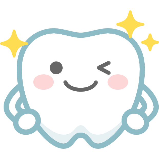 歯のイラストピカピカに輝く健康な歯のキャラクター 無料フリー