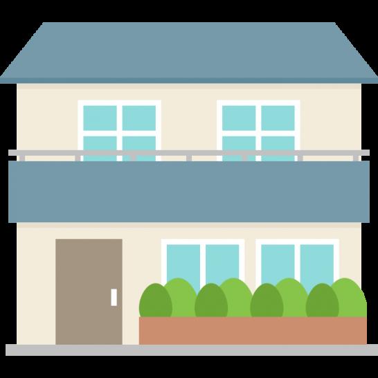 一戸建て住宅(一軒家)のイラスト