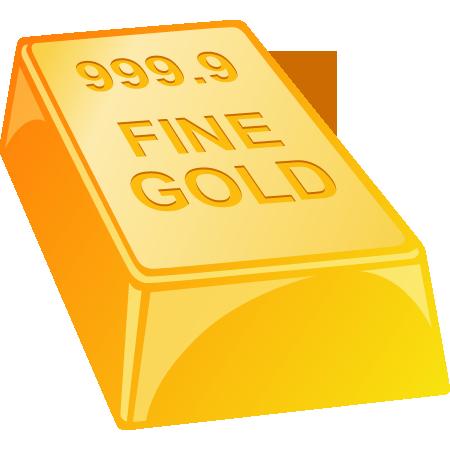 金の延べ棒(金塊・純金・ゴールド)のイラスト
