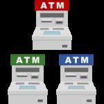 ATM(現金自動預け払い機)のイラスト