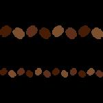 コーヒー豆のライン飾り罫線イラスト