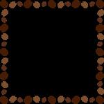 コーヒー豆のフレーム飾り枠イラスト