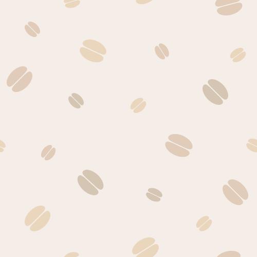 コーヒー豆の背景パターン素材<ベージュ>